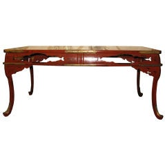 19th Century Japanese Red Lacquer Table