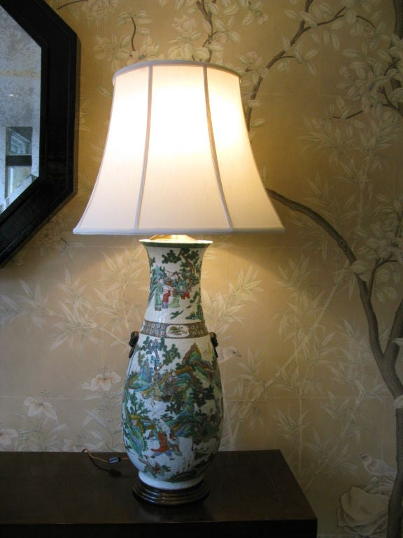Very Large 19th Century Chinese Vase as Lamp 2