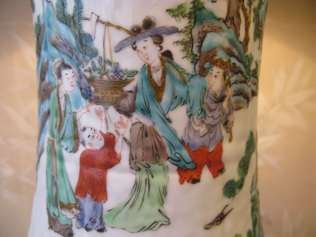 Very Large 19th Century Chinese Vase as Lamp 5