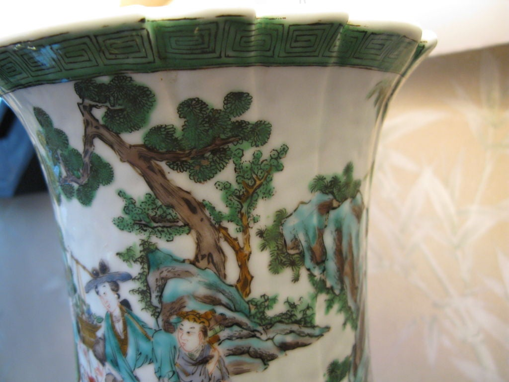 Very Large 19th Century Chinese Vase as Lamp 6