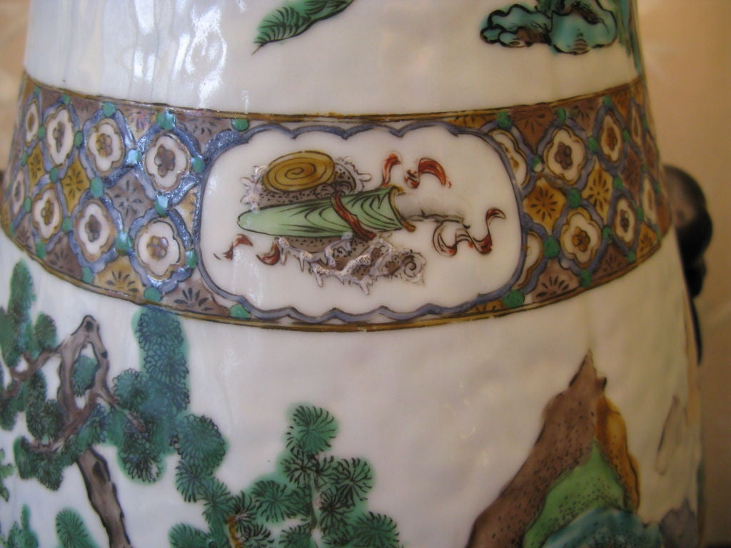Very Large 19th Century Chinese Vase as Lamp 7
