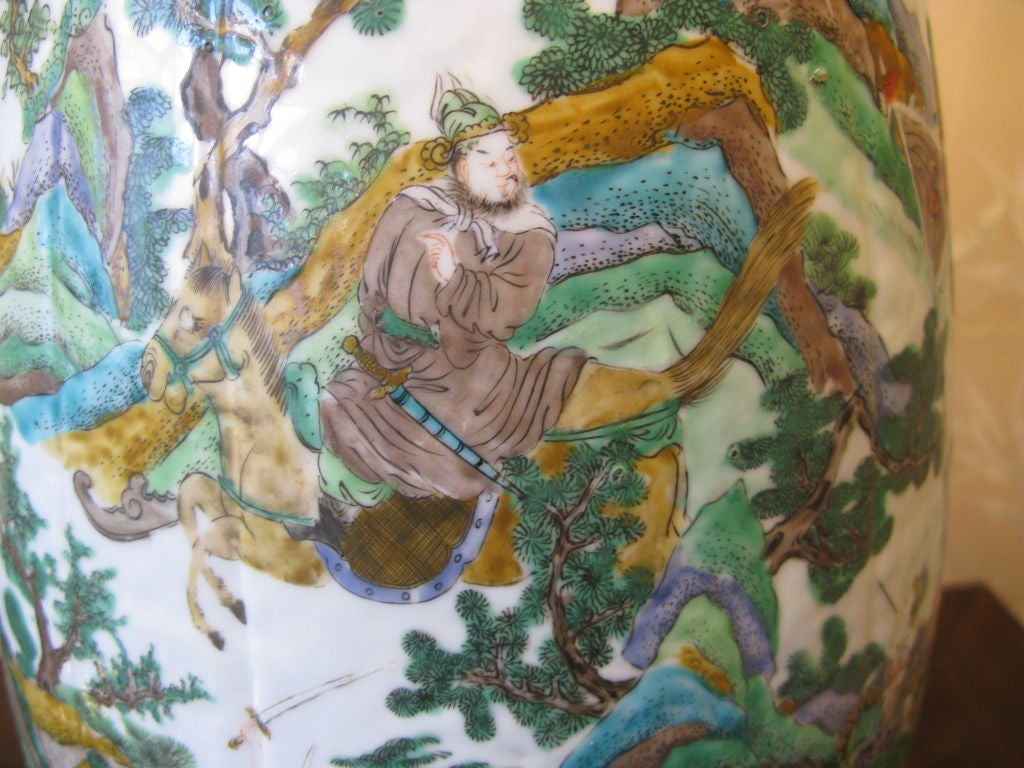 Very Large 19th Century Chinese Vase as Lamp 8