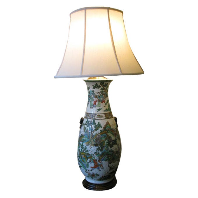 Very Large 19th Century Chinese Vase as Lamp 1