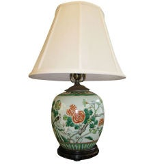 Antique Chinese Ginger Jar, Mounted as Lamp