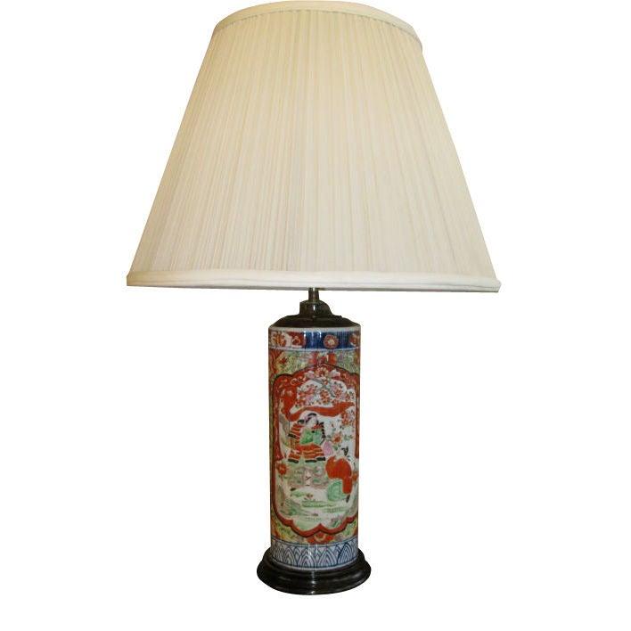 19th Century Japanese Imari Lamp For Sale
