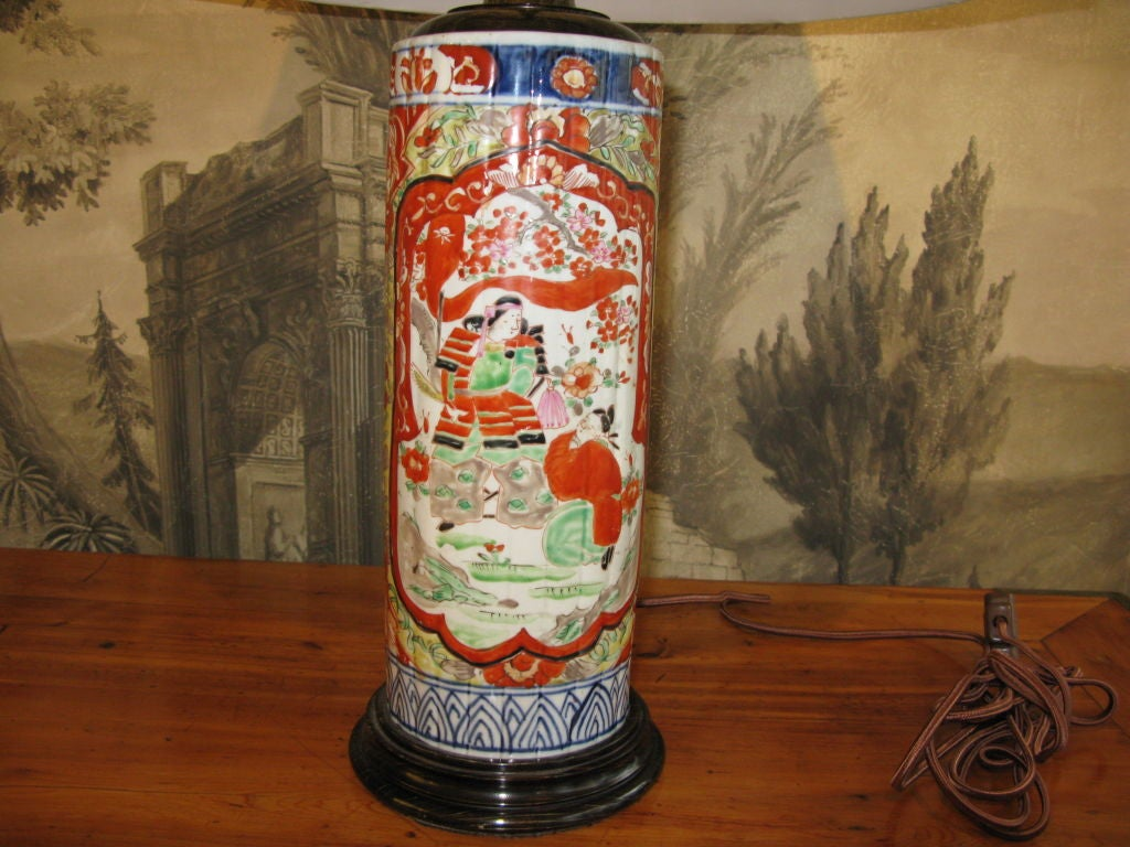 19th Century Japanese Imari Lamp In Excellent Condition For Sale In New York, NY