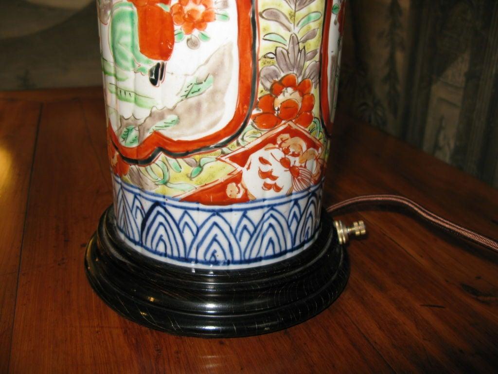 19th Century Japanese Imari Lamp For Sale 1