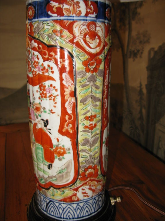 19th Century Japanese Imari Lamp For Sale 2