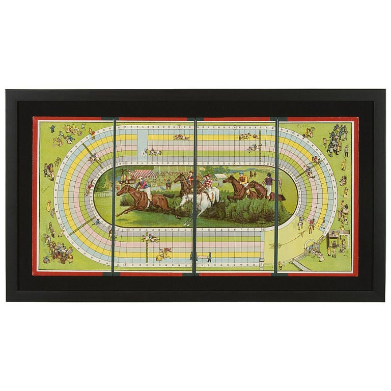 Steeple Chase Race Horse Board Game 1985 1920
