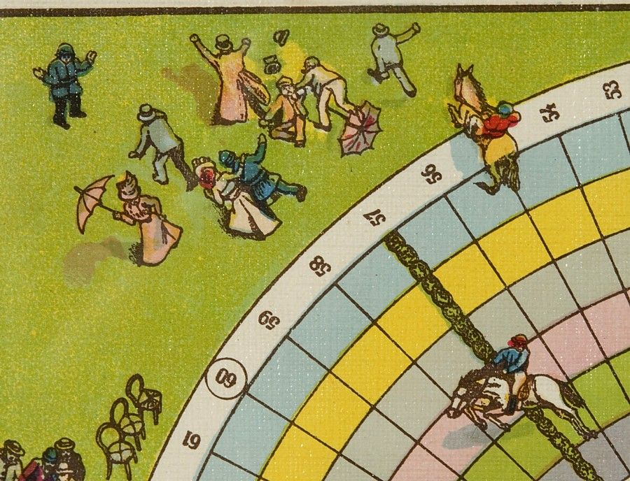 STEEPLE CHASE RACE HORSE BOARD GAME, 1985-1920: image 4
