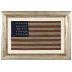 CIVIL WAR CAMP COLORS, 34 STARS, 1861-1864