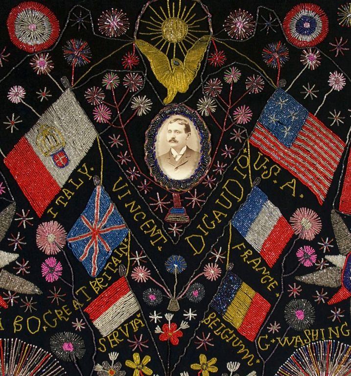 Extraordinary Patriotic Memorial Beadwork 5