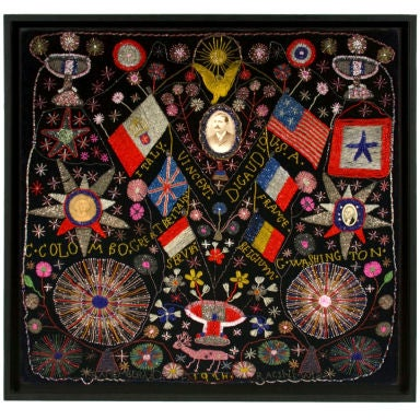 Extraordinary Patriotic Memorial Beadwork