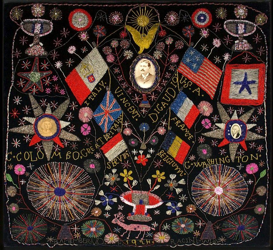 Extraordinary Patriotic Memorial Beadwork 9
