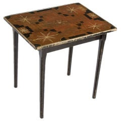 New England Parcheesi Game Board Table, 1840-1860