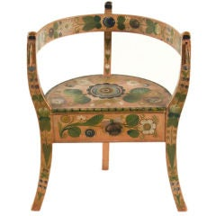 Norwegian Corner Chair With Salmon Background