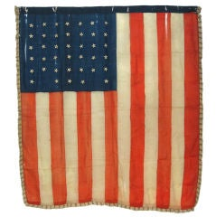 Rare Indian Wars Period, Union Infantry Battle Flag