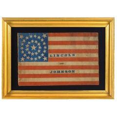 Rare, Large Scale Parade Flag, 34 Star Medallion