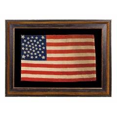 38 STARS, COLORADO STATEHOOD, A VERY RARE MEDALLION PATTERN FLAG