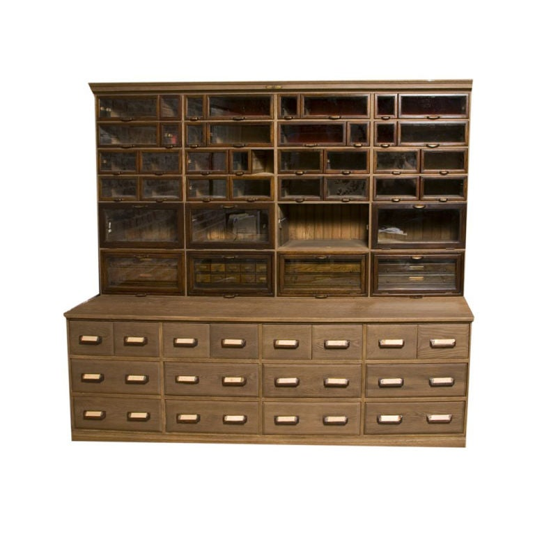- Large 'Warren' Vintage Hardware Store Cabinet At 1stdibs