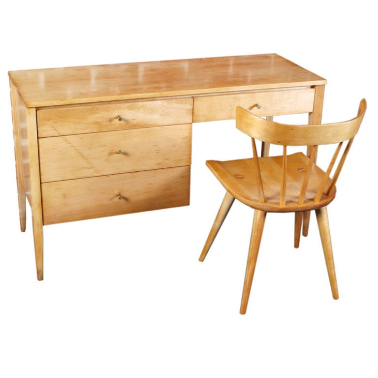 Paul McCobb Desk and Chair Set at 1stdibs