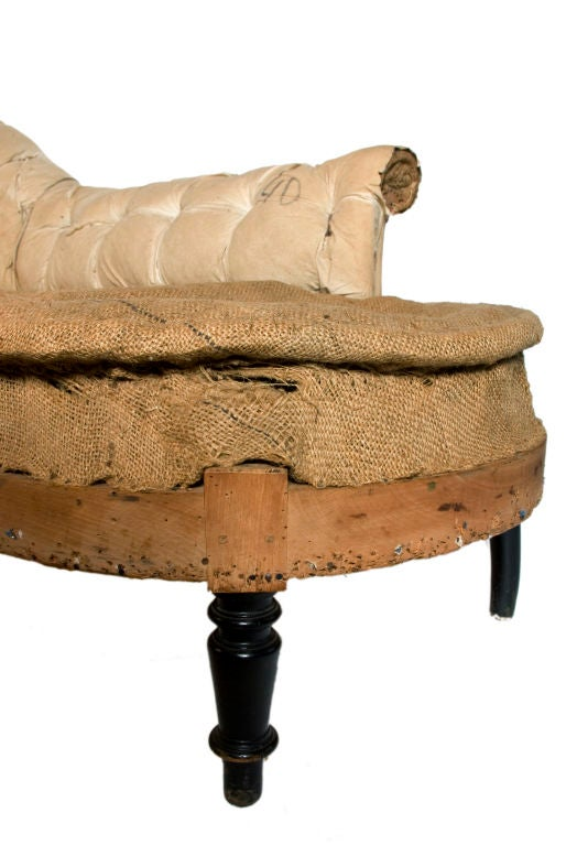 Petit rustic chaise lounge at 1stdibs for Chaise longue a petit prix
