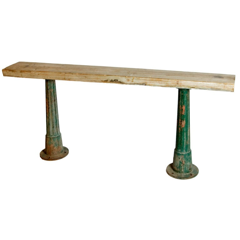 Industrial And Rustic Console Table At 1stdibs