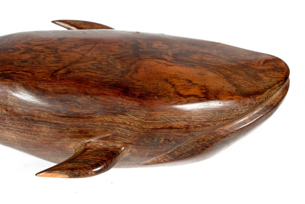 Carved Wooden Whale At 1stdibs