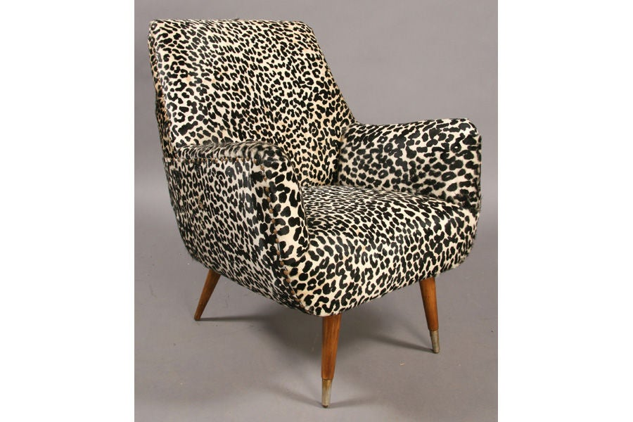 leopard print lounge chairs at 1stdibs