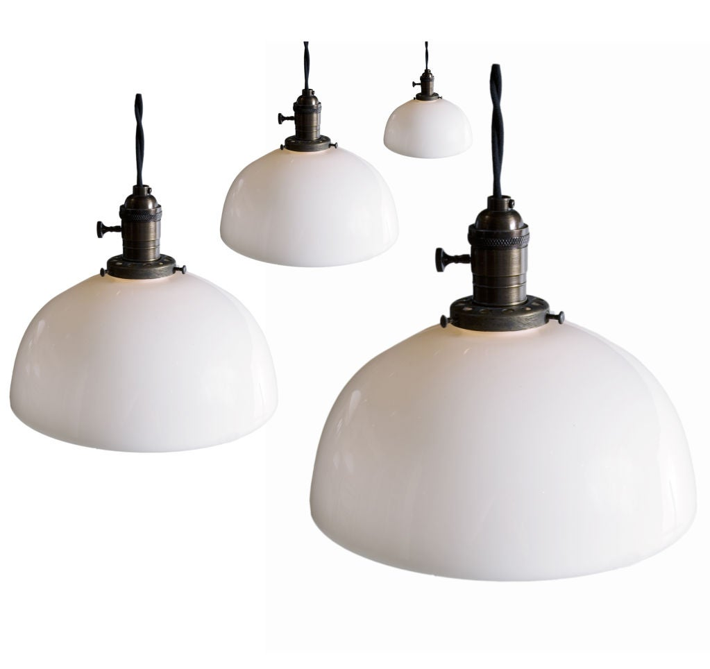 Milk Glass Shade Pendant Lights At 1stdibs