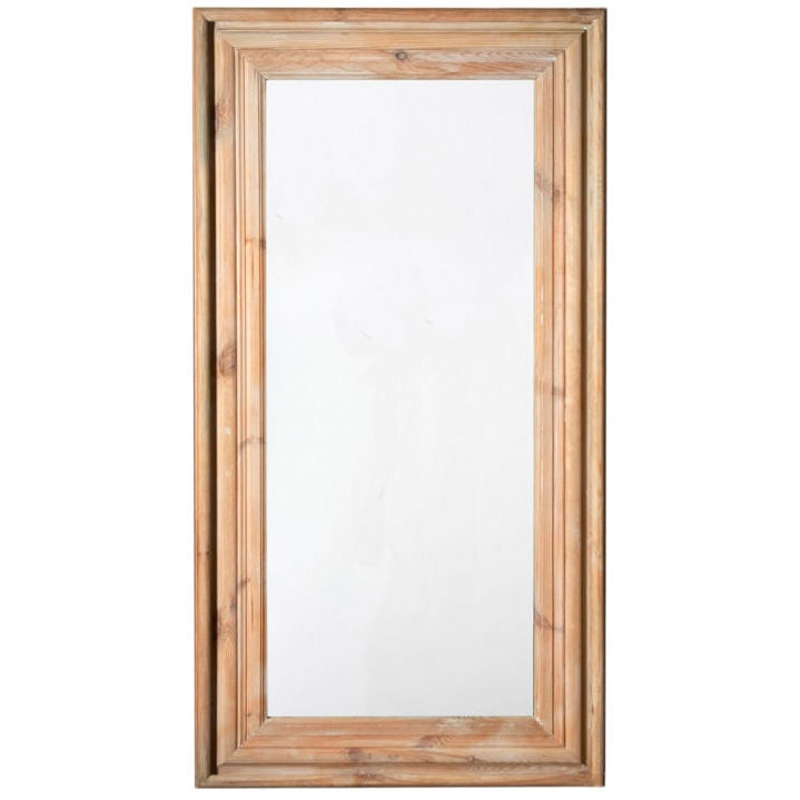 Large wooden framed mirror at 1stdibs for Tall framed mirror