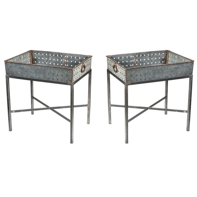 Zinc Side Table Zinc Industrial Side Table Eclectic Side Tables And Pictured Here Is The Axel