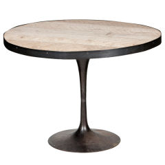 Metal & Wood Round Table