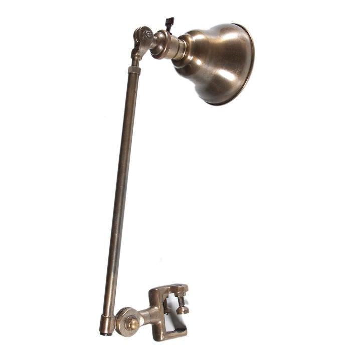 navy hospital bed clamp lamp at 1stdibs. Black Bedroom Furniture Sets. Home Design Ideas