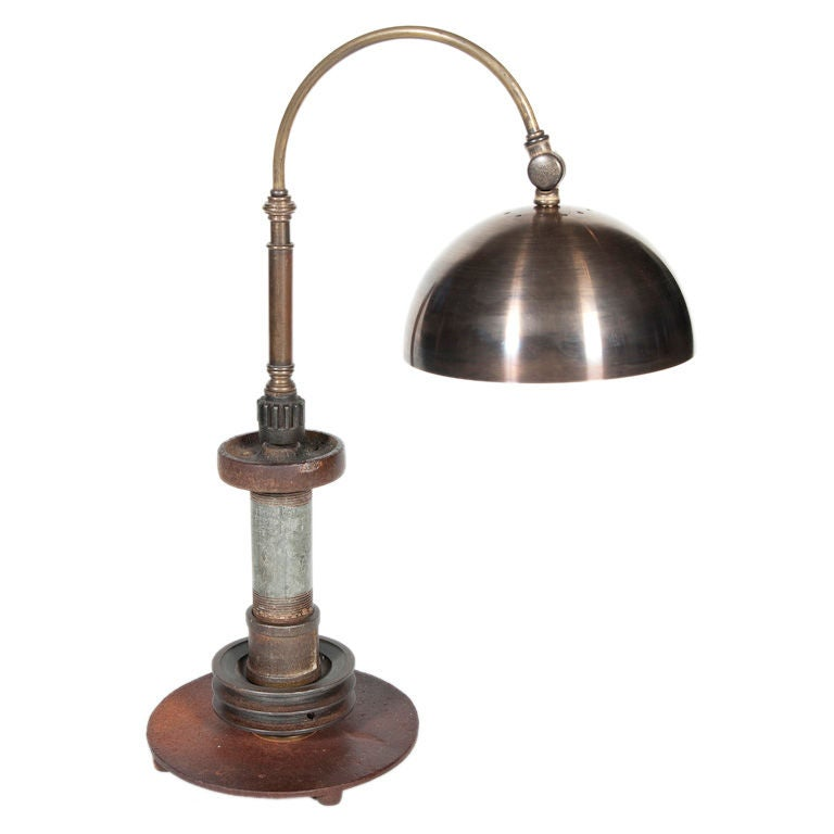 Industrial Parts Desk Lamp At 1stdibs