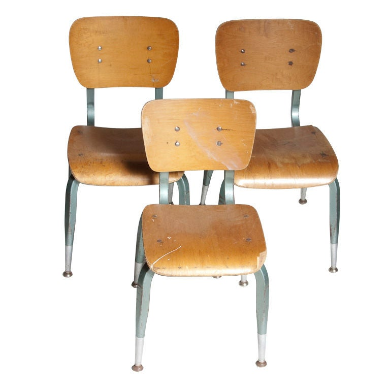 Good Vintage School Chairs At 1stdibs