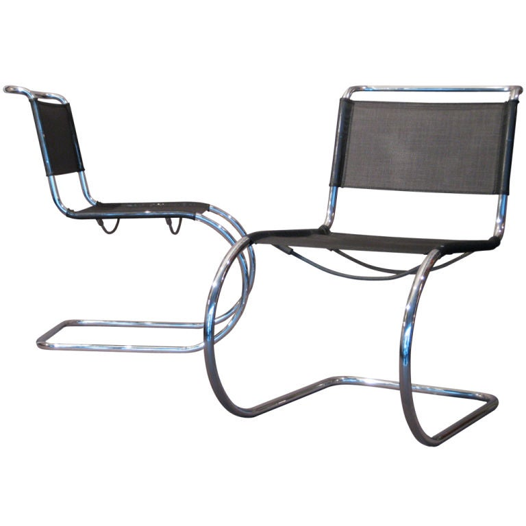 Pair Mies Van Der Rohe Mr Side Chairs By Thonet At 1stdibs