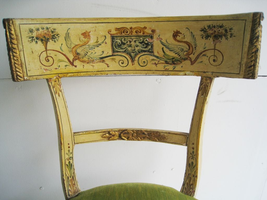 Hand Painted Italian Chair For Sale At 1stdibs