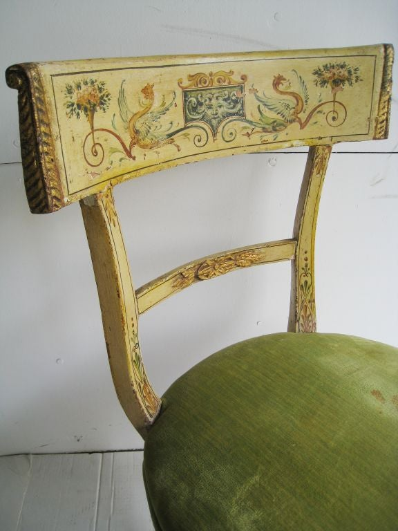 hand painted italian chair for sale at 1stdibs. Black Bedroom Furniture Sets. Home Design Ideas