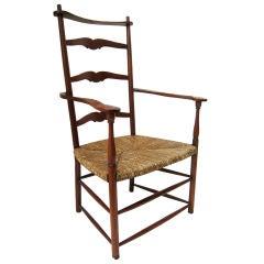Oversize Ladder Back Armchair