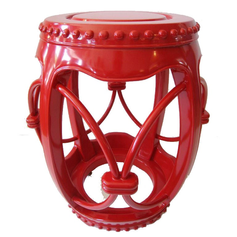 Lacquer Garden Stool For Sale At 1stdibs