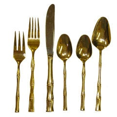 "Large Service of Towle ""Gold Cane"" Flatware"