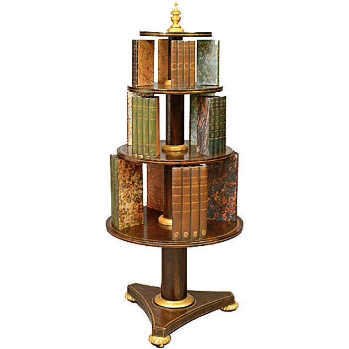 19th C Three Tier Revolving Bookcase At 1stdibs