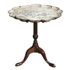 Chinese export enamel tilt-top table.