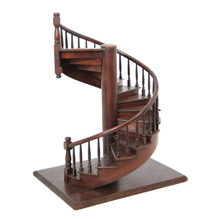 A Model Of A Spiral Staircase At 1stdibs