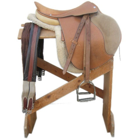 Vintage Hermes Jumping Saddle and Accessories at 1stdibs