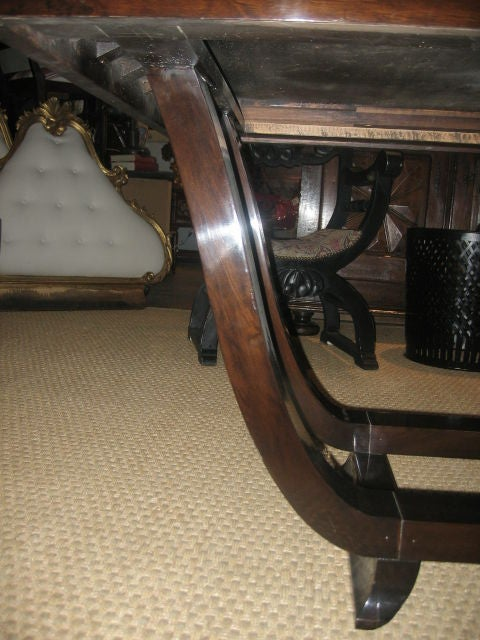 Mid-20th Century 1940s French Rosewood Dining Table For Sale