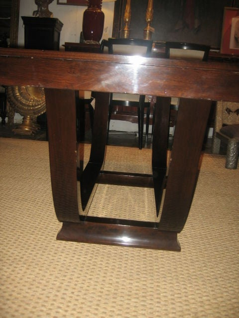 1940s French Rosewood Dining Table For Sale 1