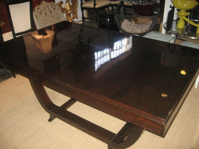 1940s French Rosewood Dining Table For Sale 2