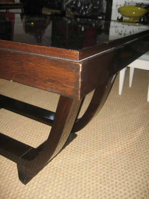 1940s French Rosewood Dining Table For Sale 4
